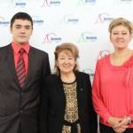 ведущие 2 дня - Галицкая Стелла  и Вячеслав со спонсором